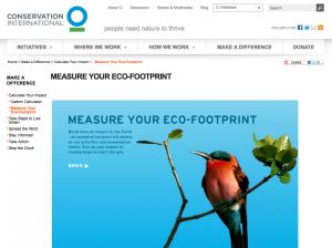 Conservation International Ecological Footprint Calculator