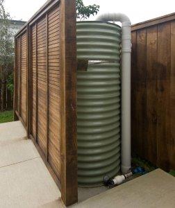 Rainwater harvesting collection tank