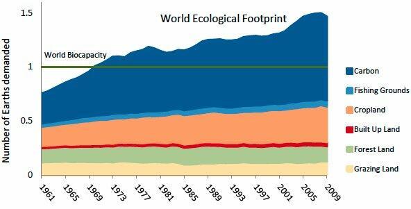 World ecological footprint