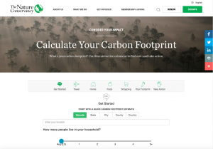 The Nature Conservancy Carbon Footprint Calculator